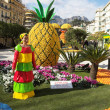 The Citrus parade in Menton, France - Stock Photo