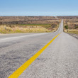 Desolate road just outside Colesberg, South Africa — Stock Photo