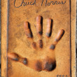 Handprint of Chuck Norris — Stock Photo