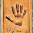 Handprint of Sophia Loren - 图库照片