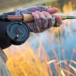 Stock Photo: Flyfishing
