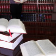 Legal books on table - South African Law Reports - Intern doing research — Photo