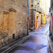 Stock Photo: Desolate street in Aix-en-provence, France