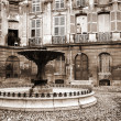 Stock Photo: Courtyard and fountain in Aix-en-provence, France