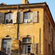 Old buildings in Antibes, France. - Stock Photo