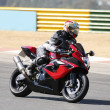 High speed Superbike on the circuit - Stock Photo