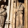 Some of the statues of Cathedrale Sainte Sauveur in Aix-en-Provence, France - 图库照片