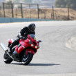 High speed Superbike on the circuit — Stockfoto
