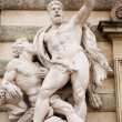 The statues of Hercules outside the Hoffberg Palace — Stock Photo