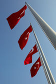 Red turkish flags — Stock Photo