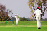 Cricketers playing — Stock Photo