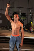 Enkele afrikaanse vrije stijl hip-hop danser — Stockfoto