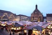 Flea Market at night in Neurenburg — Stock Photo