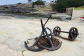 Ancres et chaînes d'ancre dans le port de hermanus, afrique du sud — Photo