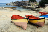 Derelict boats on Hermanus Harbour, South Africa — Stock Photo