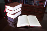 Legal books on table - South African Law Reports — Stock Photo