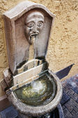 Old ornate public drinking fountain in Cannes, France — Stock Photo