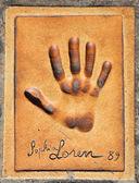 Handprint of Sophia Loren — Stock Photo
