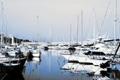 A harbor in Antibes, France — Stock Photo