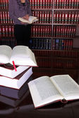 Legal books on table - South African Law Reports - Intern doing research — Stock Photo