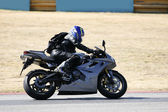 High speed Superbike on the circuit — Stock Photo