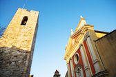 Buildings and tower in Antibes, France — Stock Photo