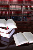 Legal books on table — Stock Photo