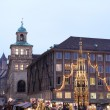 Flea Market at night in Neurenburg - Stock Photo