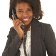 Portrait of a beautiful young African businesswoman talking on the phone — Stock Photo #22120665