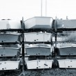 Boats piled on top of each other — Stock Photo #22120669