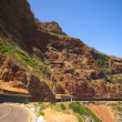 The winding road on Chapmans Peak, South Africa — Foto Stock