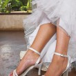 Stock Photo: Bridal sandals