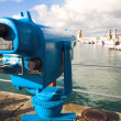 Coin operated view finder or telescope at the Cape Town Waterfront and port area - Stock Photo