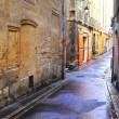A desolate street in Aix-en-provence, France. — Stock Photo