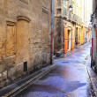 Stock Photo: Desolate street in Aix-en-provence, France.