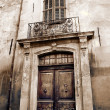 Door of an old building in Aix-en-provence, France — Stock Photo