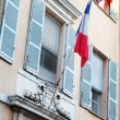 France flag on the building — Stock Photo