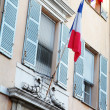 France flag on the building - Stock Photo