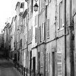 A backstreet in Aix-en-Provence, France - Sepia Tone, Photographic Technique — Stock Photo