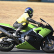 Stock Photo: High speed Superbike on circuit