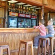 Children sit at the bar — Stock Photo