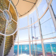 Inside the Slangkop Lighthouse at Kommetjie, Western Cape. - Stock Photo