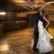 Couple dancing on their wedding day — Stock Photo