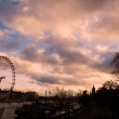 Stock Photo: Sunset over river Thames - Silhouette