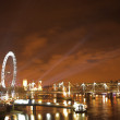 New years over the river Thames — Stock Photo