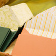 Writing paper and envelopes — Stockfoto