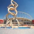 Постер, плакат: Outside Khalifa sports stadium in Doha Qatar