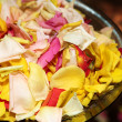 Close-up of confetti in a bowl. Shallow D.O.F — Stock Photo #22129671