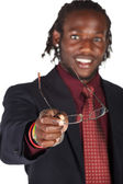 Handsome African businessman — Stock Photo