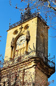 The clocktower of Hotel de Ville in Aix-en-Provence, France — Stock Photo
